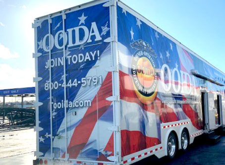 OOIDA's tour trailer, the Spirit of the American Trucker