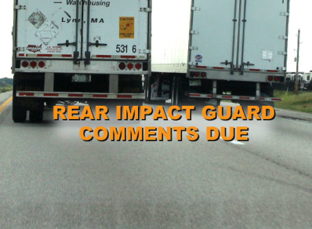 FMCSA rear impact guard inspection proposal comments due March 1