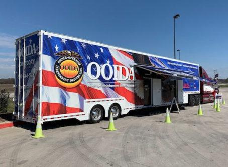 OOIDA's tour trailer in Hillsboro, Texas
