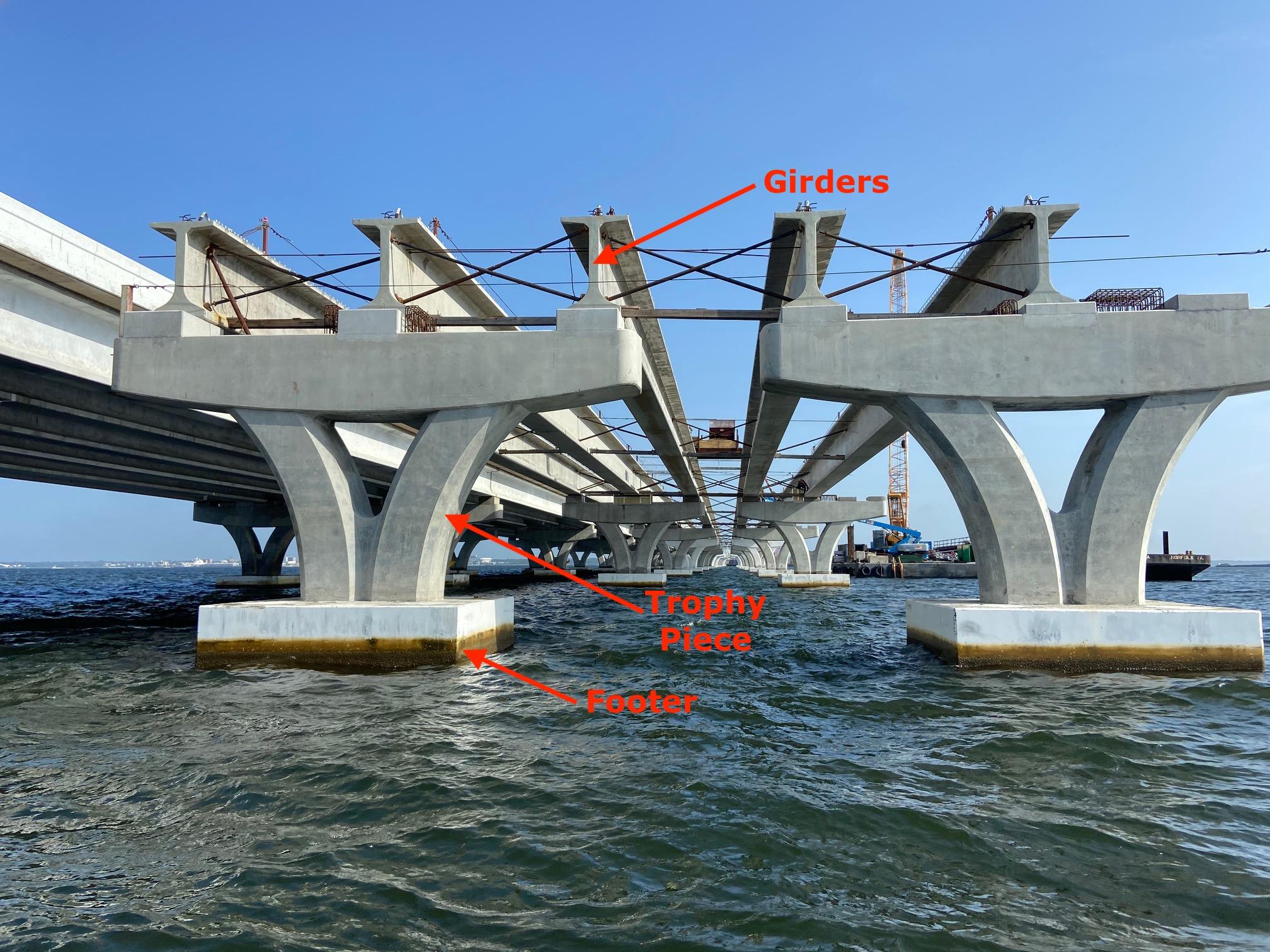Pensacola Bay Bridge trophy piece