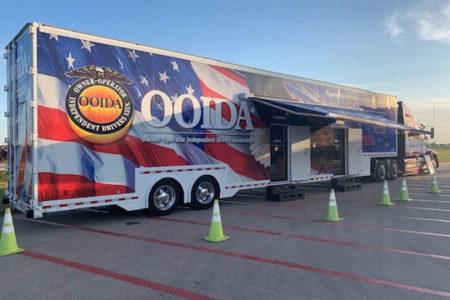 OOIDA's tour trailer returns to Carl's Corner, Texas