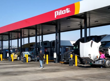 Diesel pumps at Missouri truck stop