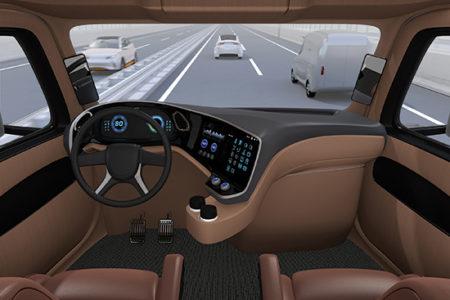 autonomous trucking cab