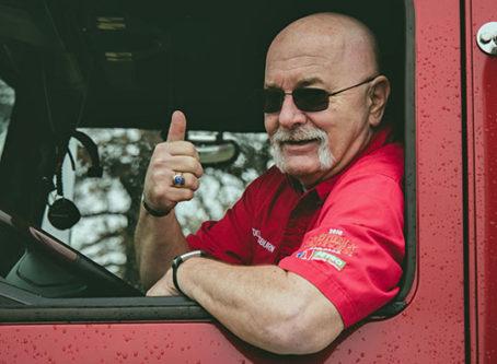 OOIDA Jon Osburn, skipper of OOIDA's tour trailer