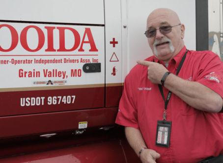 Jon Osburn, skipper of OOIDA's tour trailer
