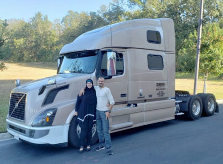 Ahmed Shaaban and his truck from a GoFundMe webpage.