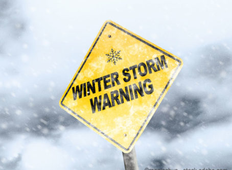 Winter storm warning, snow and ice removal