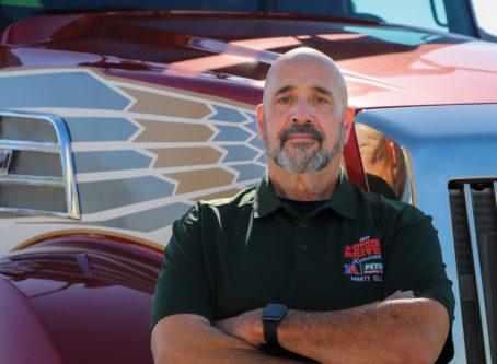 Marty Ellis, skipper of the Spirit, OOIDA tour trailer