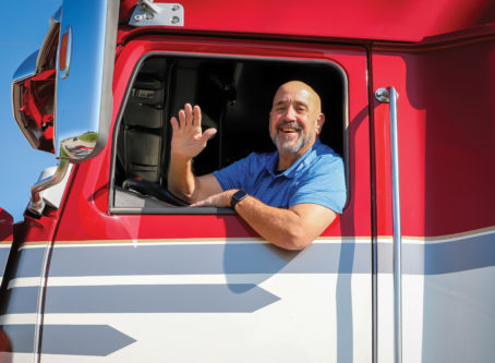 Marty Ellis, skipper of the Spirit, OOIDA tour trailer