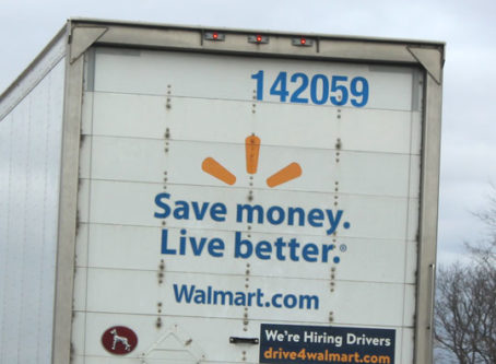 Walmart truck on I-70 in Kansas