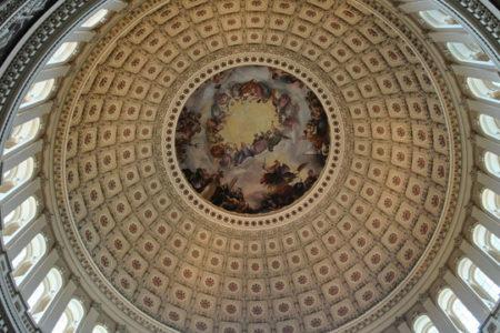 U.S. Capitol dome, inside