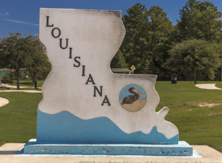 Welcome to Louisiana monument
