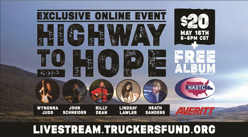 SCF Highway to Hope concert is May 16, 2021.