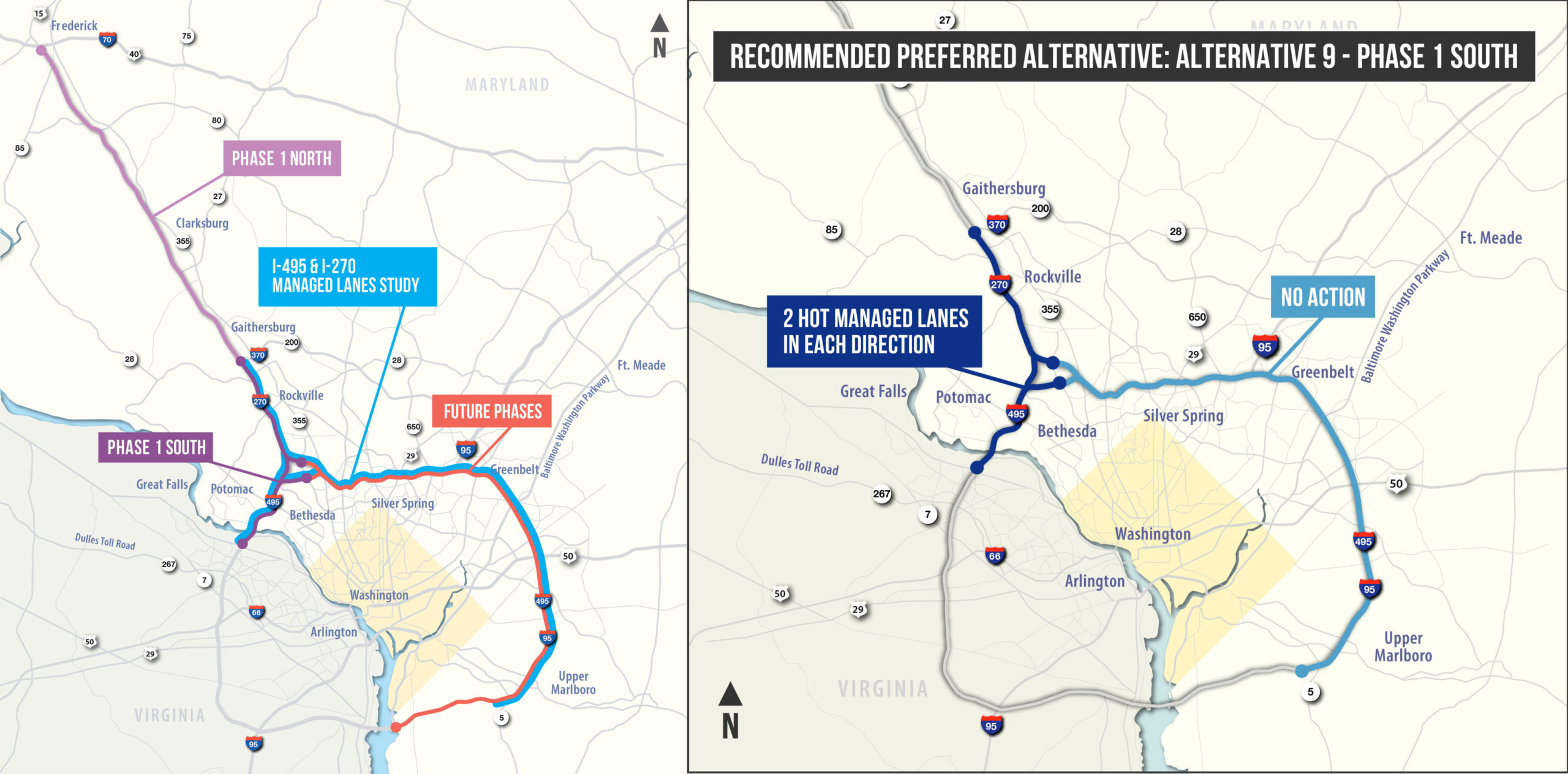 New Capital Beltway toll map
