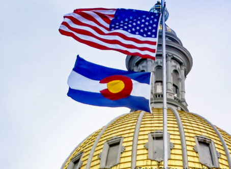 Colorado flag at state capitol