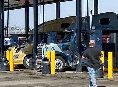 Diesel pumps in central Missouri