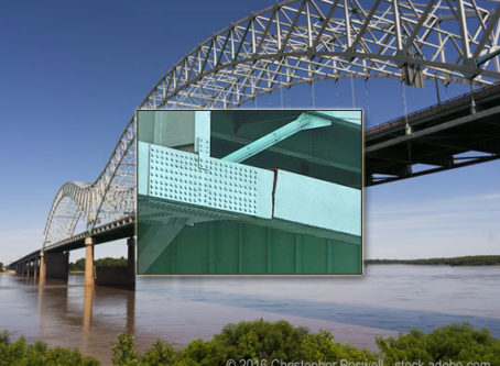 Hernando de Soto i-40 bridge across the Mississippi River