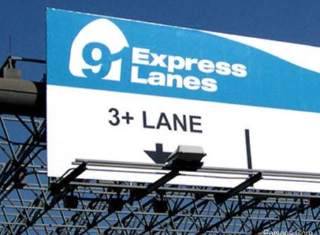 91 Express Lanes sign, courtesy Parson corp.
