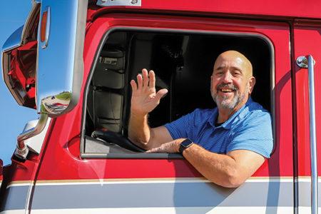 Marty Ellis, skipper of OOIDA's tour trailer