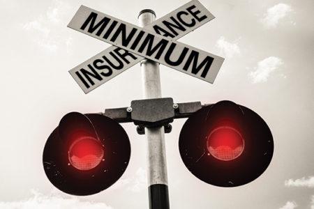 Minimum insurace railroad signage