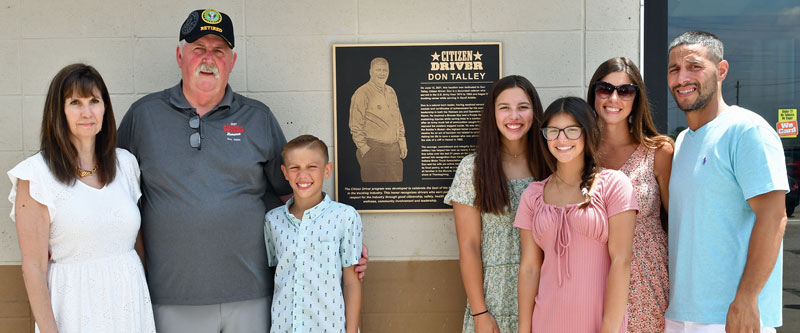 2021 Citizen driver Don Talley and family