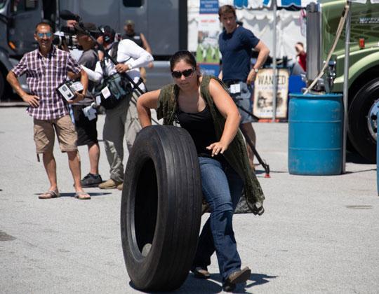 Walcott Truckers Jamboree tire rolling