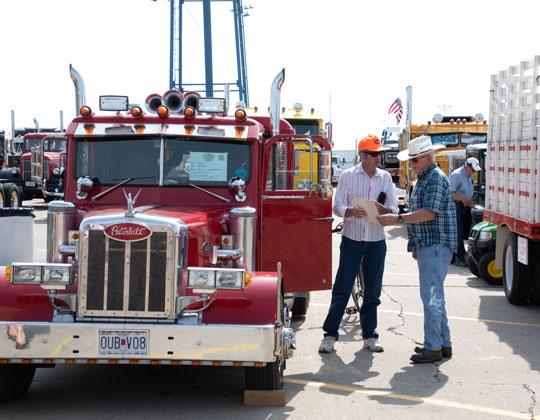 Walcott Truckers Jamboree Antique Truck Display