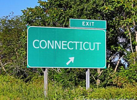 Connecticut exit sign