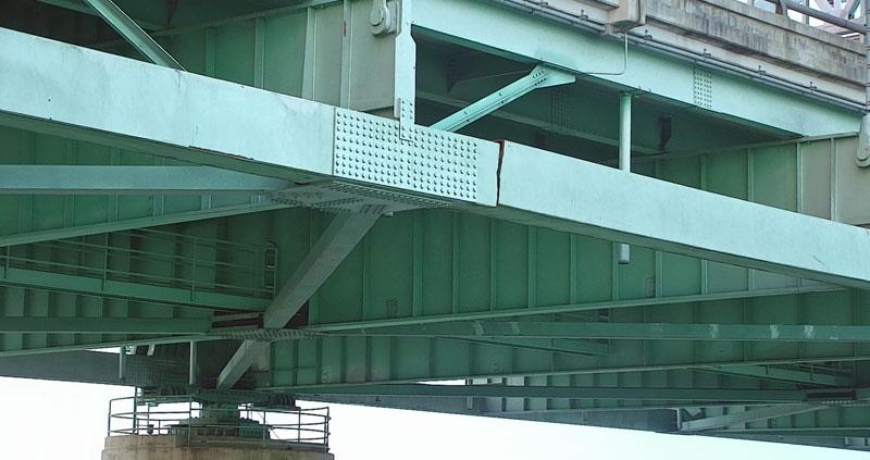 Damage found on I-40 bridge. Photo courtesy Arkansas DOT