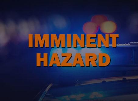 Driver declared imminent hazard