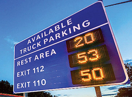 Truck parking information and management system on I-94 in Michigan.