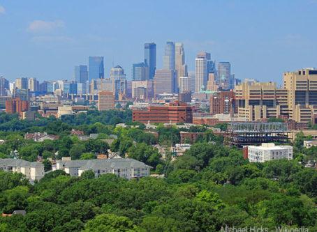 Minneapolis skyline, by Michael Hicks