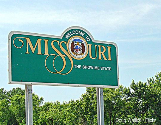 Missouri fuel tax Missouri welcome sign, photo by Doug Wallick - Flickr