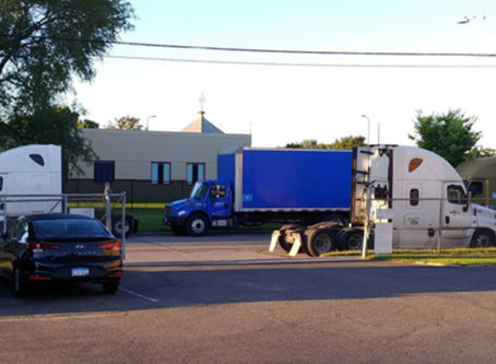 This photo submitted with public comments shows why Minneapolis is considering banning all truck parking.