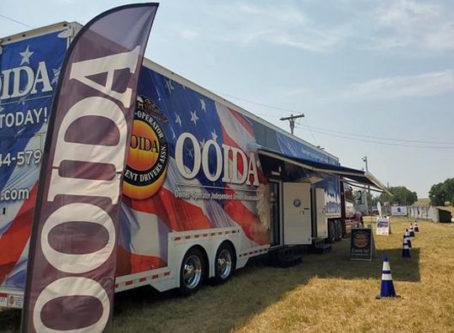OOIDA's tour trailer at the Western Nebraska Truck Show