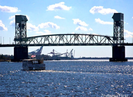 Cape Fear Bridge, photo by Zrudisin - Flickr