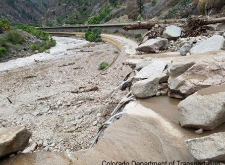 I-70 mudslide, Colorado DOT image