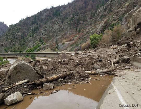 I-70 damage, photo courtesy Colorado DOT