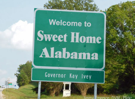 Sweet Home Alabama sign, photo by Jimmy Emerson