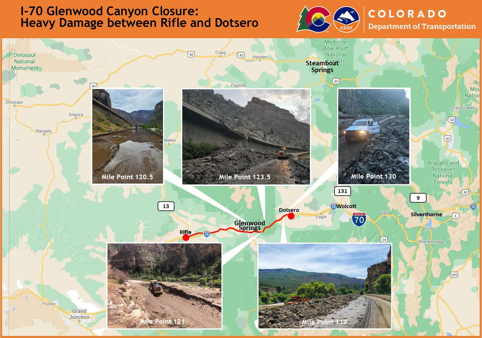 Glenwood Canyon map