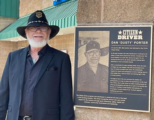 "OOIDA life member Dan ""Dusty"" Porter, 2021 Citizen Driver"