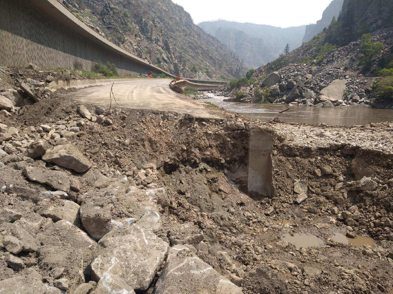 Glenwood Canyon I-70 damage