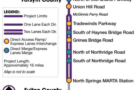 SR 400 express lanes infograph/map