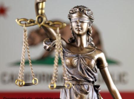 Lady Justice, California flag photo by promesaartstudio - stock.adobe.com