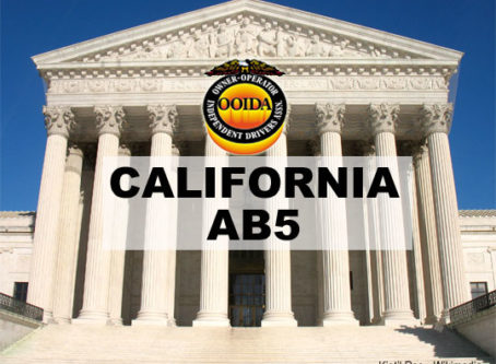 OOIDA, other groups urge Supreme Court to hear AB5 case
