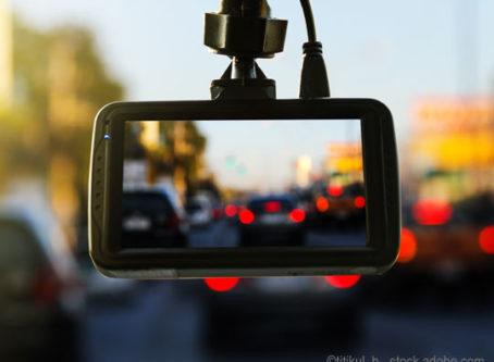 dashcam in windshield