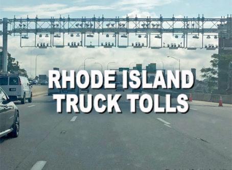 Rhode Island truck only toll gantries
