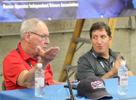 OOIDA's Todd Spencer, FMCSA's Joe DeLorenzo at Town Hall meeting at GBATS