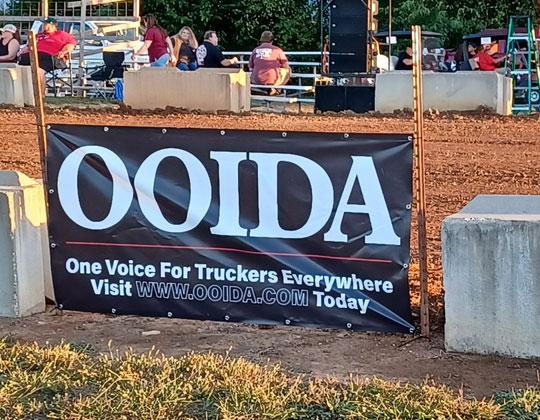 OOIDA sign at GBATS 2021