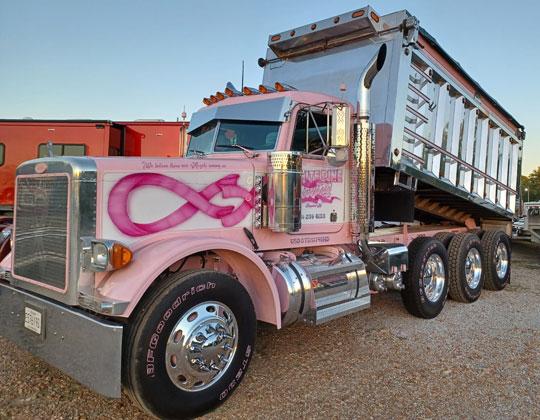 GBATS 2021 pink dump truck